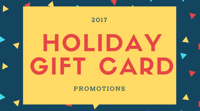 food and drink news - Holiday Gift Card Promotions 2017