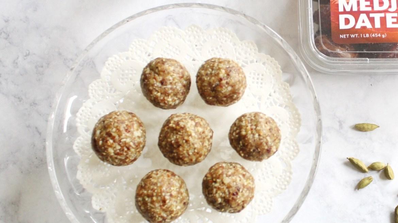 Cardamom Date Balls