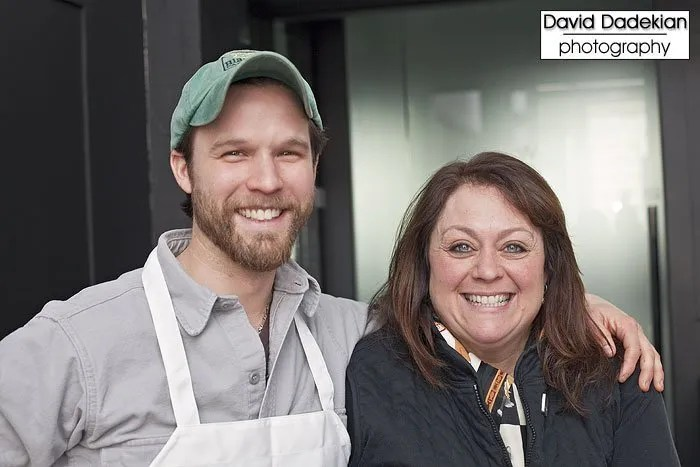 Chef Darius Salko of Tini and Ann Marie Bouthillette of Blackbird Farm
