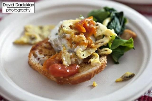 Sunnyside Daytime Dining's Wishing Stone Farm Poached Egg Crostini