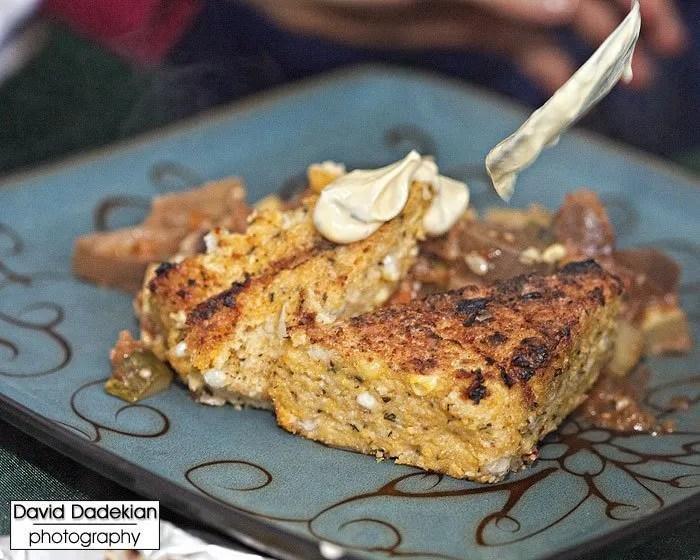 grilled polenta, summer garden ratatouille, provencal aioli