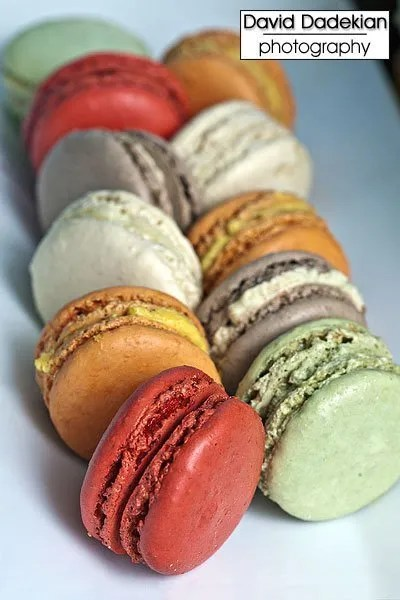 Pastry Chef Adam Young's multi-colored macarons