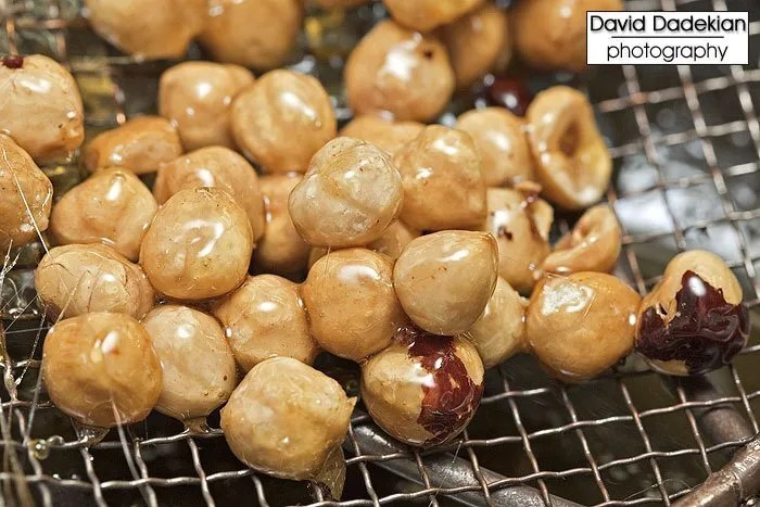 Candied hazelnuts