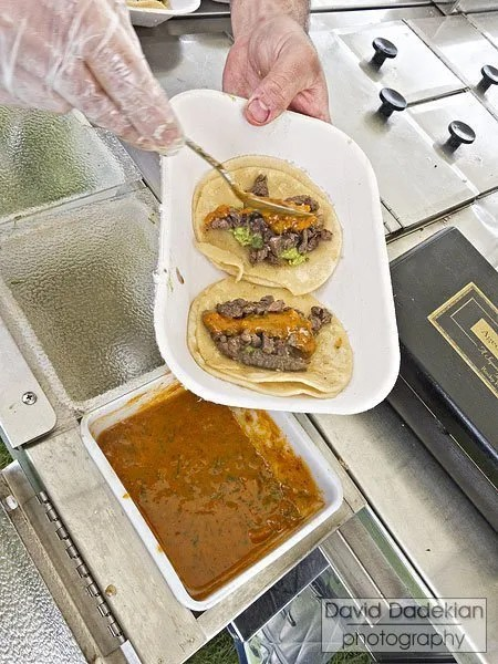 Two Blackbird Farm Carne Asada tacos