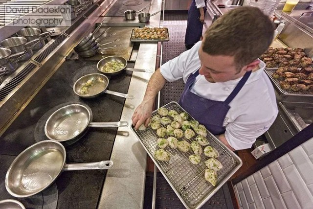 Preparing the Butter-Roasted Native Bomster Sea Scallops