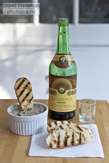 "Turkey & chicken liver pâté with Armenian brandy (""cognac"")"
