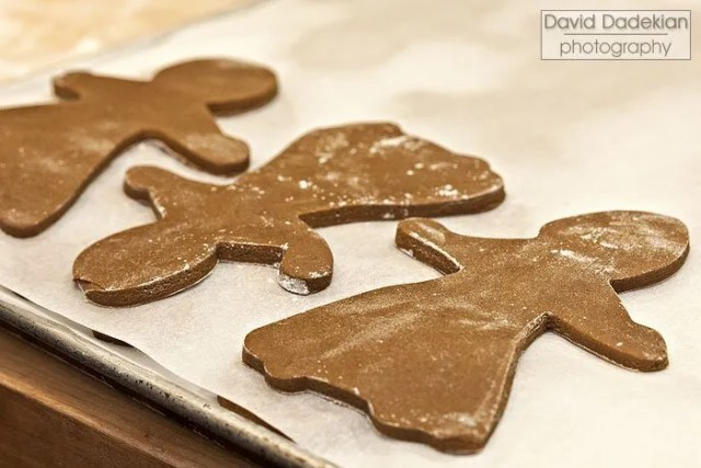 Cut out gingerbread women