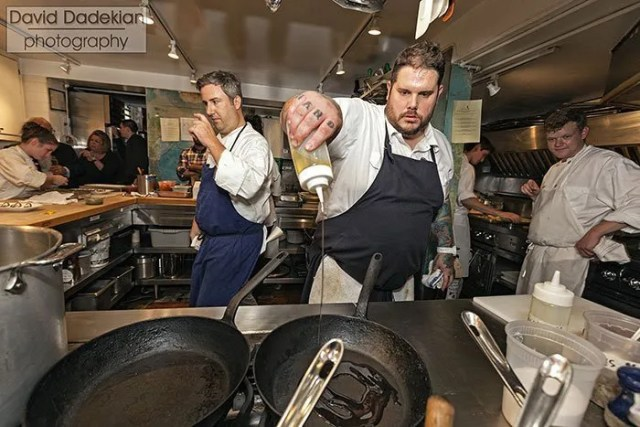 Cooking in the James Beard Foundation kitchen