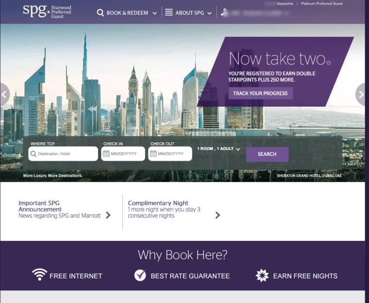 Starwood Preferred Guest SPG Dubai