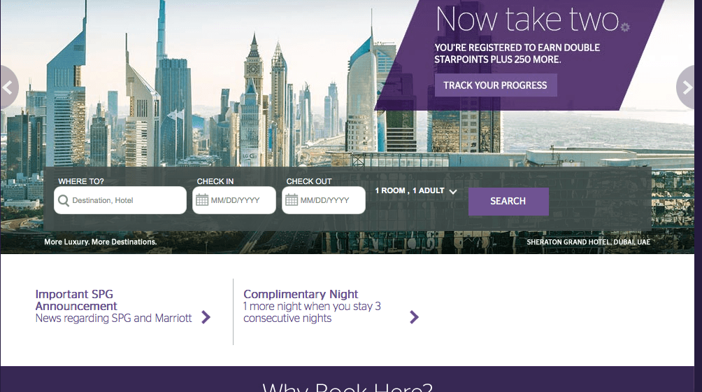 Starwood Preferred Guest SPG Dubai