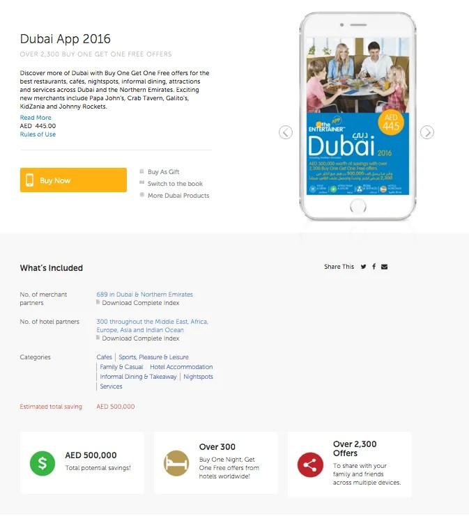 The Entertainer Dubai 2016 App