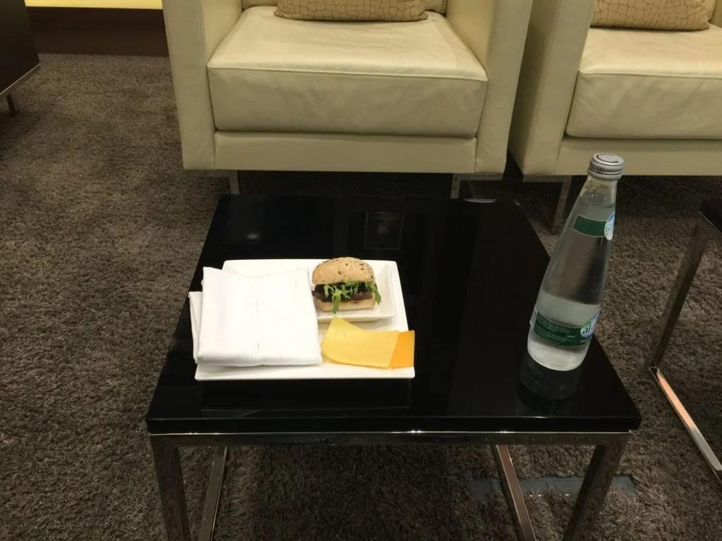 Etihad Arrivals Lounge Abu Dhabi_steak sandwich