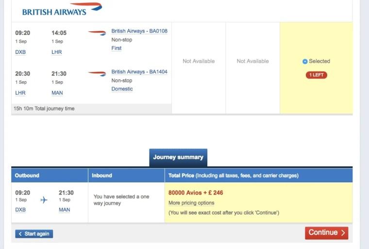 Points Miles Roulette 1 British Airways