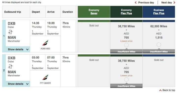 Points Miles Roulette Emirates 3