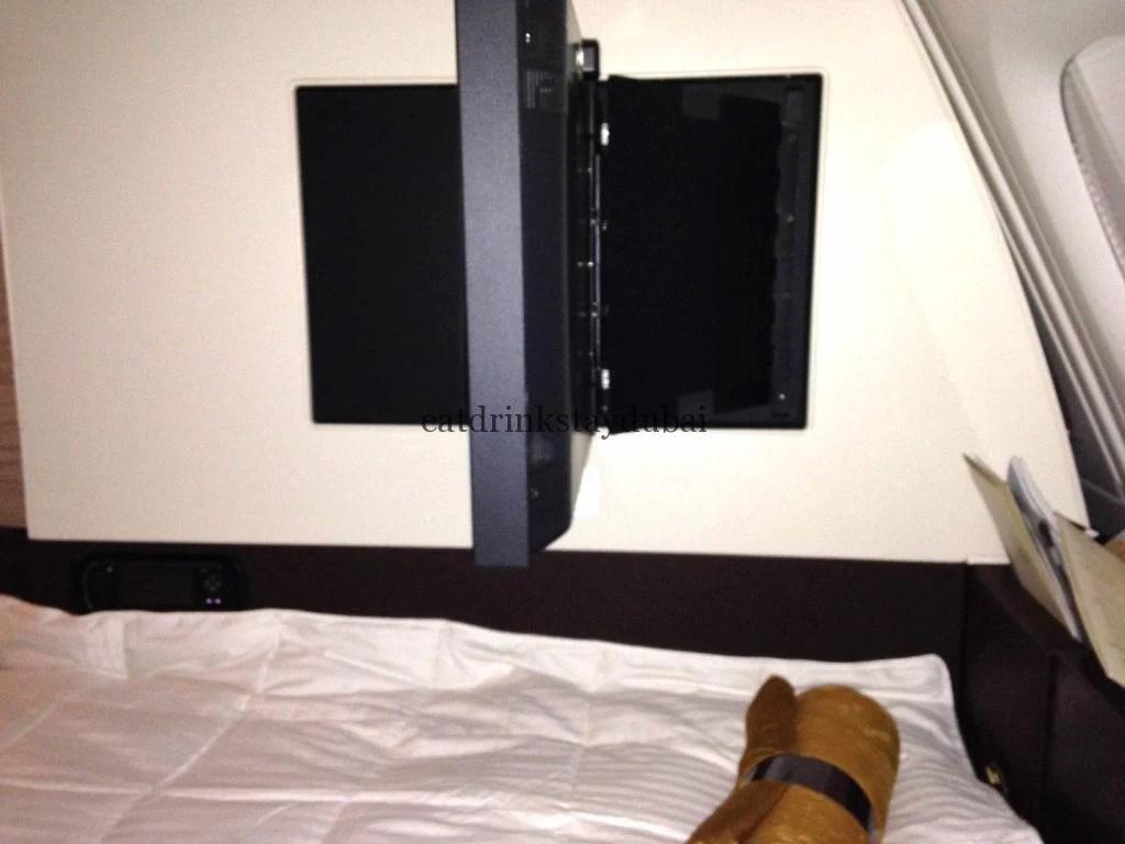 Etihad A380 First Class Apartment: Swivel TV