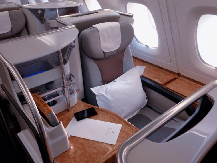 Emirates A380 Business Class DXB-MAN_cabin 2 - now harder for upgrades with Emirates Skywards