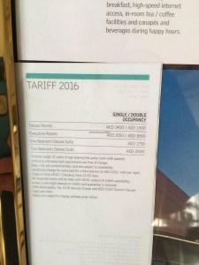 Hotel Review Le Meridien Fairway: tariff