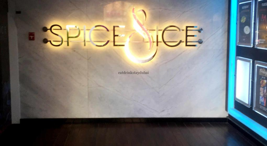 Spice & Ice Restaurant and Lounge sign
