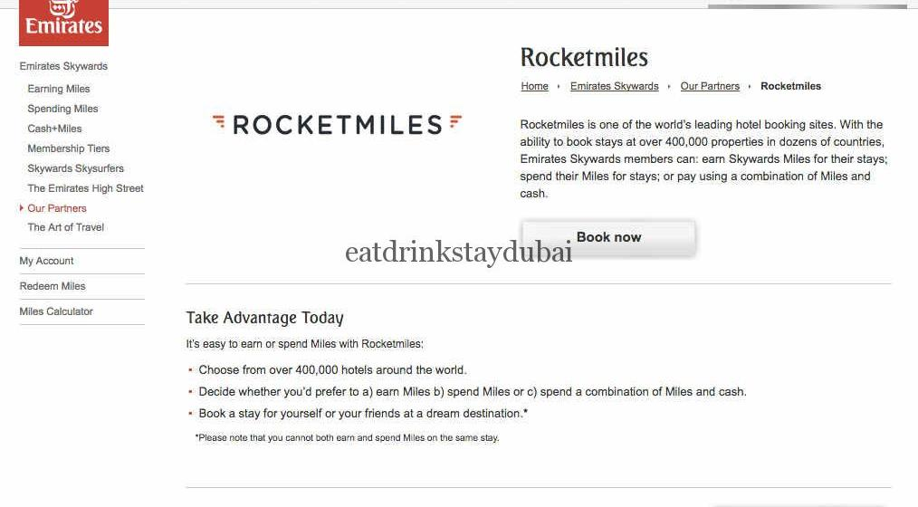 Emirates Airline partners_Rocketmiles booking