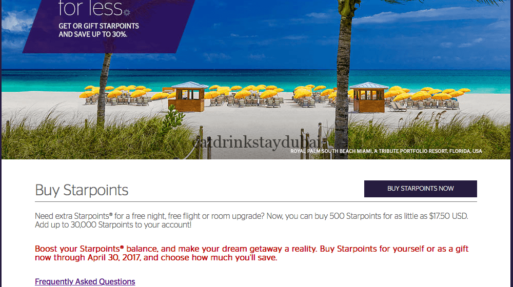 Buy SPG Points 1_main page