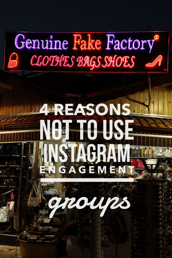 4 reasons not to use Instagram engagement groups