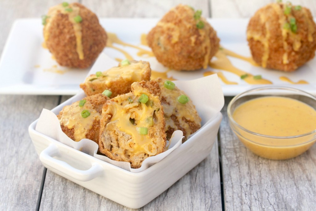 vegan fried mac and cheese balls