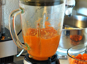 Carrot and Orange Juice with Nectarine, Apple and Ginger