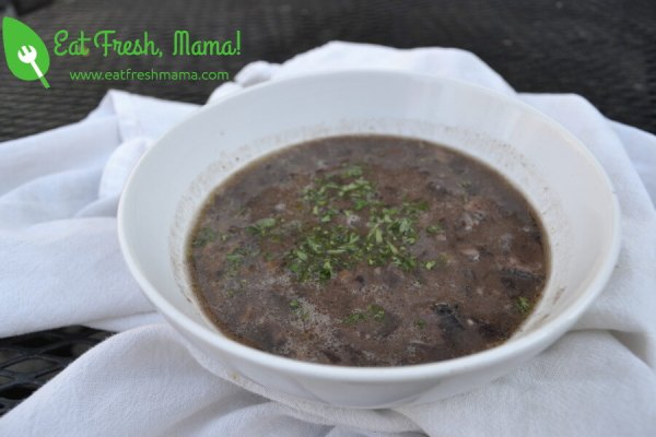 Slow Cooker Mud Soup (Black Bean Soup)