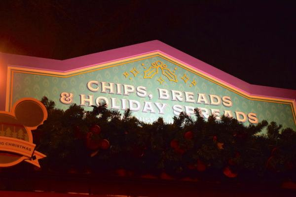Disney Festival of Holidays Preview Kiosk - Chips, Breads & Holiday Spreads