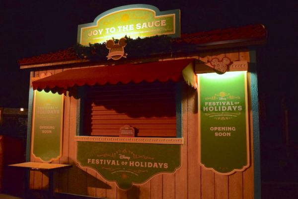 Disney Festival of Holidays Preview Kiosk - Joy to the Sauce