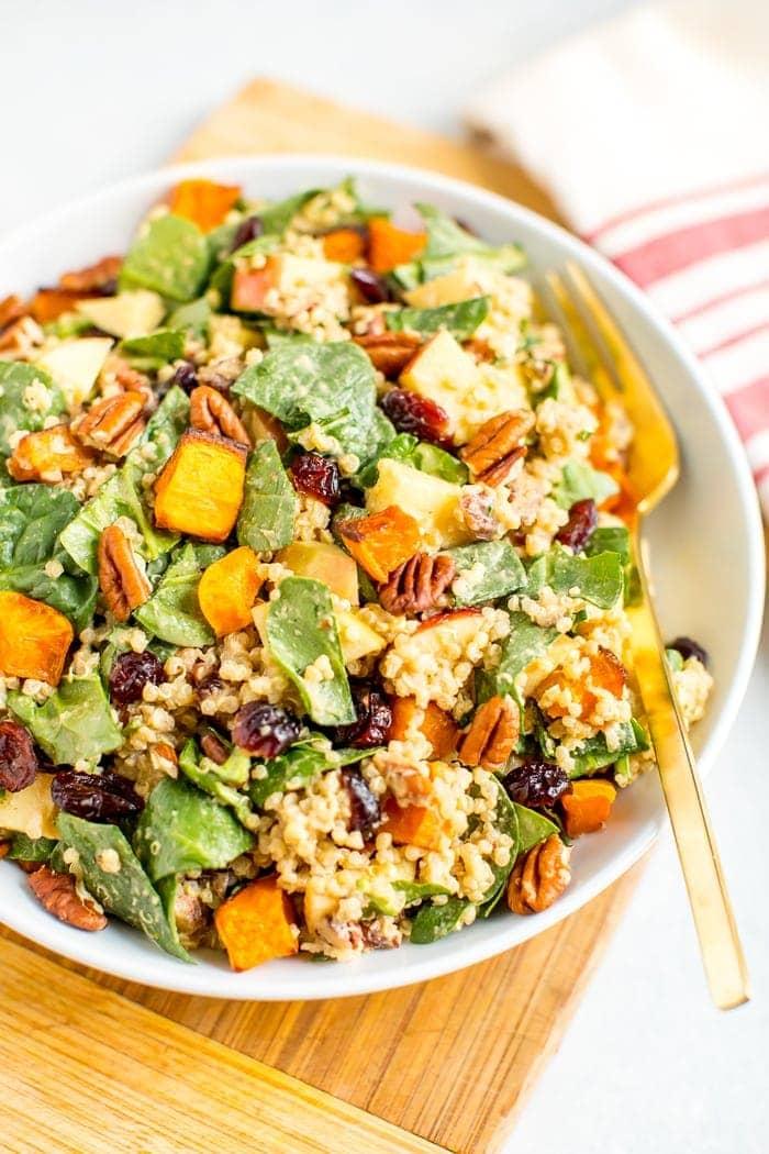 Fall Quinoa Spinach Salad
