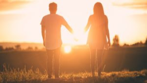 Couple enjoying sunset and discussing Eating Disorders in Transgender Community