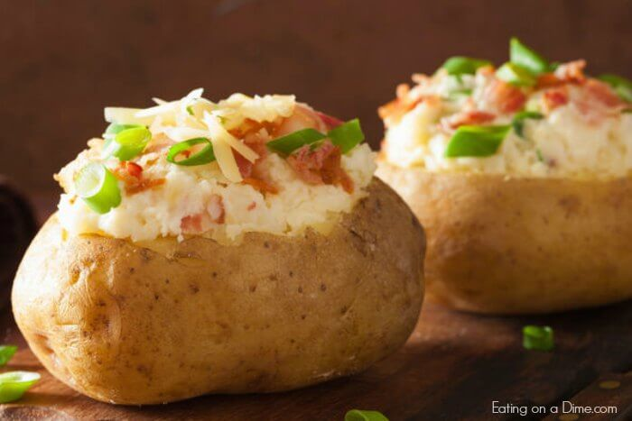 easy to make microwave baked potatoes