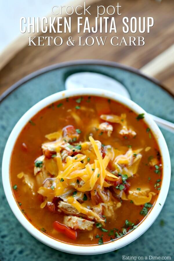 Chicken Fajita Soup - Keto Crockpot Recipes