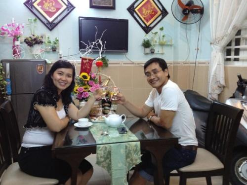 Eating with a Local Saigon Family - Ha and Ha