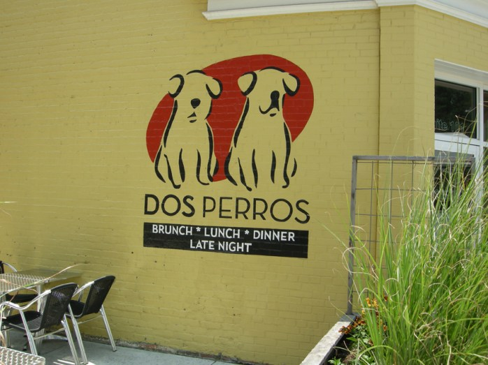 exterior of Dos Perros