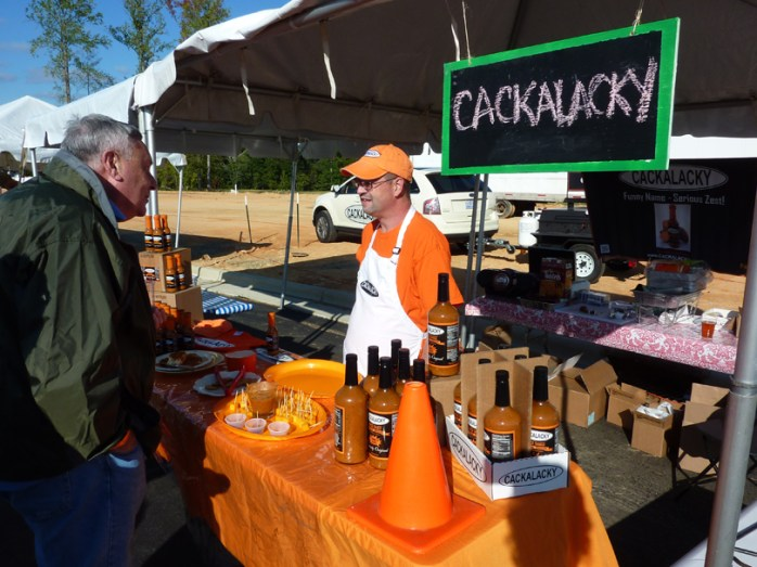 Cackalacky had a booth featuring a pepper sauce