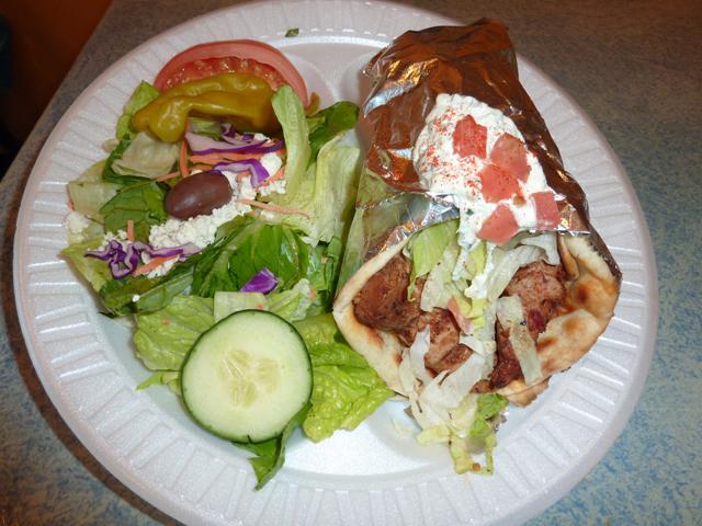 photo of the pita sandwich