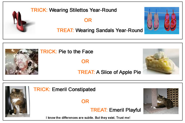 A List of Trick or Treat Options