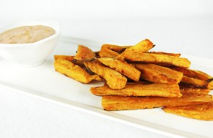 sweet potato fries with chiptole dip