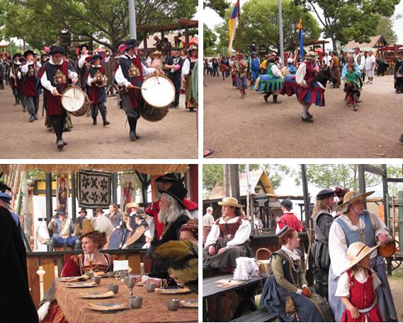pictures from renaissance fair of Queen Elizabeth