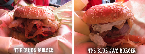 The Guido Burger and The Blue Jay Burger