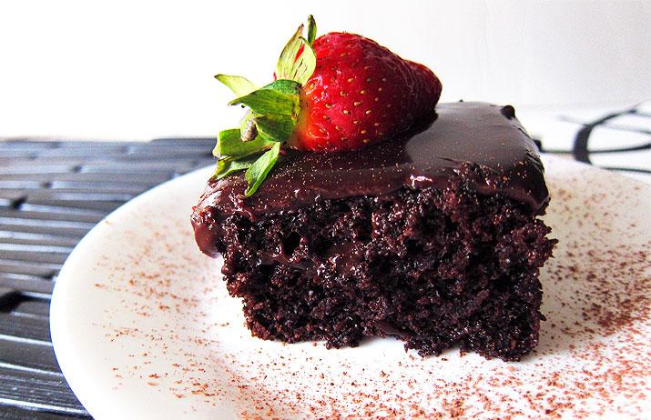 One Bowl Chocolate Cake with Dreamy Chocolate Ganache