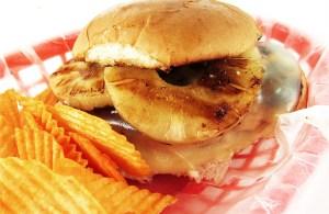 chicken teriyaki sandwich with pineapple