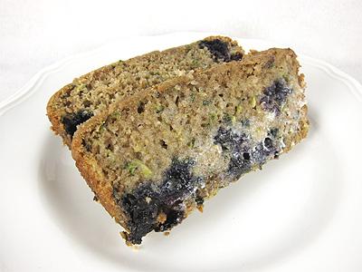 Healthy Healthy Blueberry Zucchini Bread