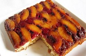 Peach Melba Cake