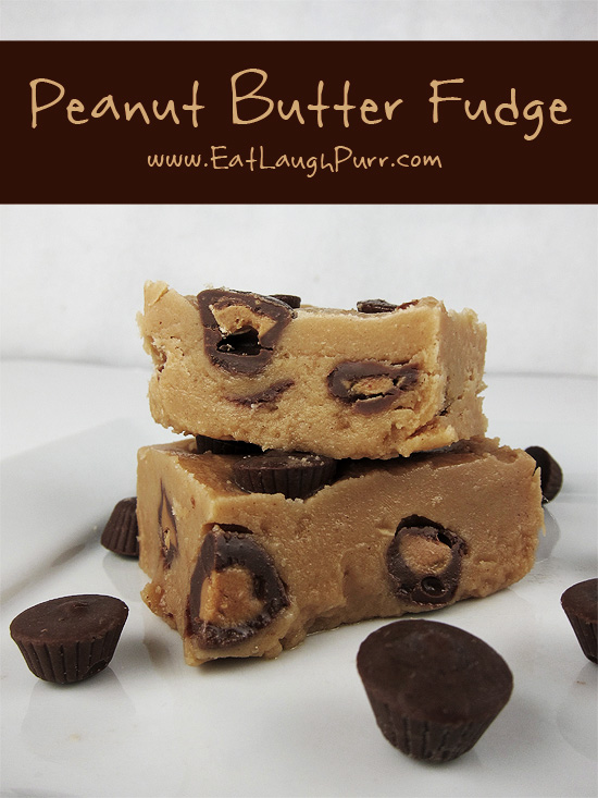 Peanut Butter Fudge from www.EatLaughPurr.com #Fudge #PeanutButter