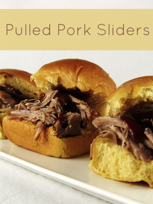 Pulled Pork Sliders #pork #sliders #sandwiches #crockpot #slowcooker