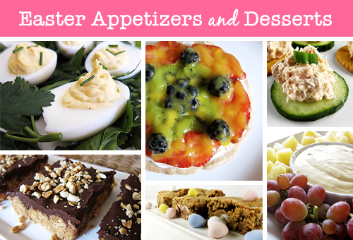 Easter Appetizers and Desserts
