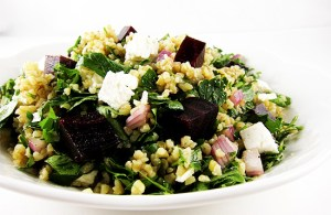 beet and feta tabbouleh